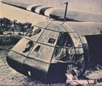A horsa glider, photographed by the germans.