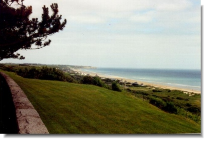 Omaha beach, as seen from the colleville sur mer cemetary